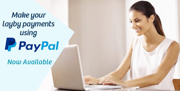 Make your layby purchase using PayPal